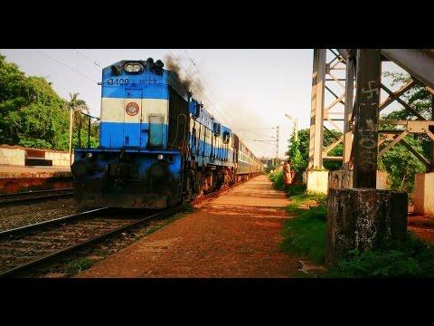 Raipur ice cream #13409 honks through Vanivihar with Durg Puri express
