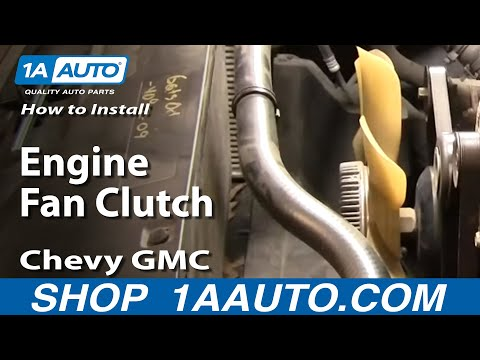 How To Install Replace Engine Fan Clutch Chevy GMC Silverado Sierra Tahoe Yukon