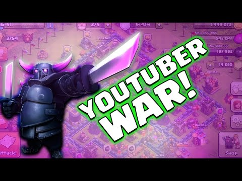 Clash of Clans | YouTuber Clan War! Nordic Players + Chief Pat, Galadon, Nickatnyte & Molt!