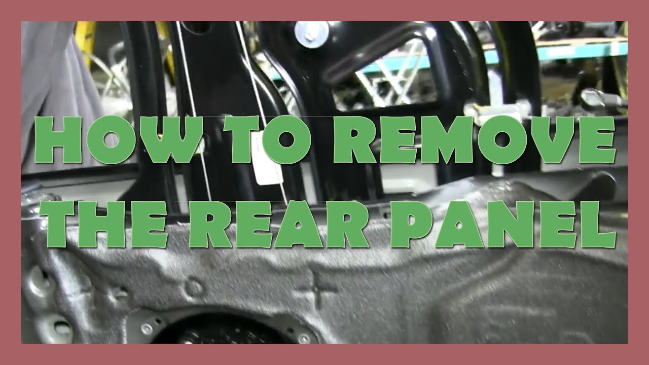 How to Remove the Rear Panel - B6 2001-2005 AUDI A4 CABRIOLET - YouTube