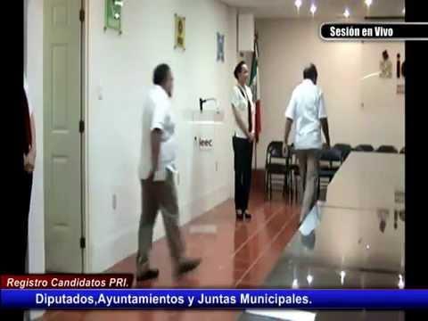 Registro del Candidatos a Diputados,Ayuntamientos y Juntas Municipales PRI