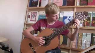 Young Guitarist (Finn Woodward) plays Birds flew over the Spire