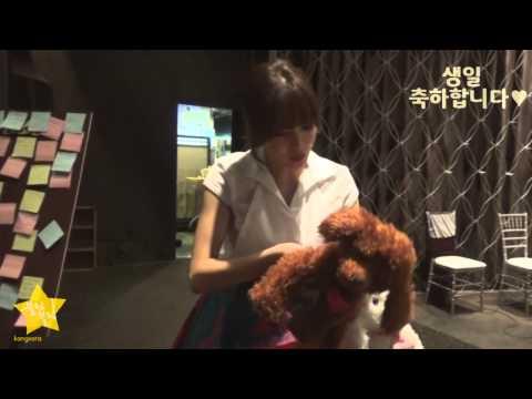 강소라 직캠 Kang Sora 26th 생일선물 인증영상 (15.02.08)