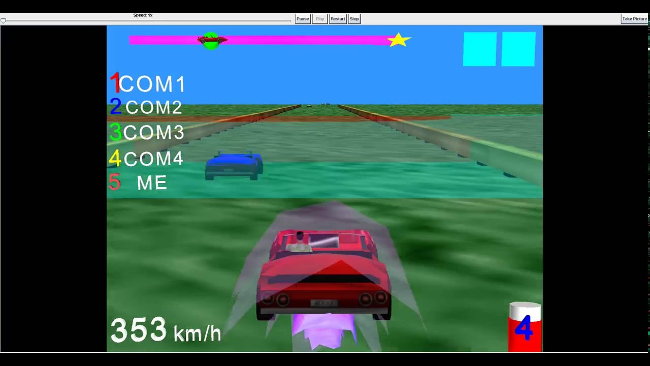Racing Game Made With Alice