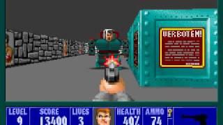 Wolfenstein 3D E3M9 - Hitler - Pistol Only