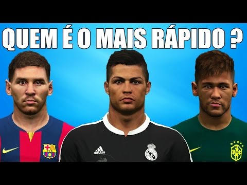 Cristiano Ronaldo vs Lionel Messi vs Neymar Jr - PES 2015 SPEED TEST