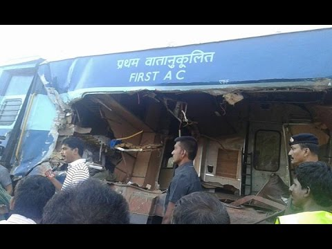 Bangalore Express Train collided with a lorry in Andhra Pradesh's Anantapur district
