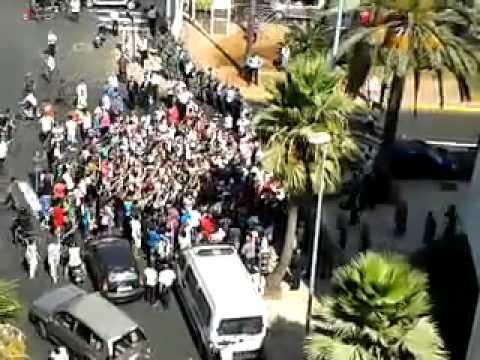 Manifestation à Casablanca devant le consulat américain