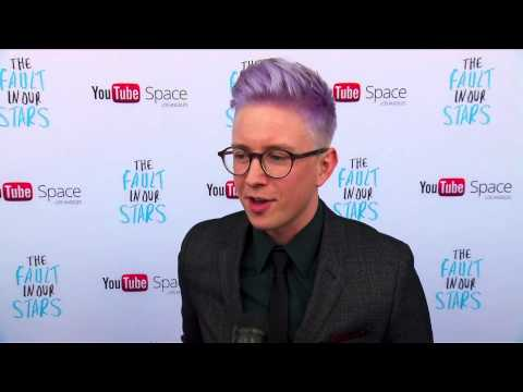 The Fault In Our Stars: Tyler Oakley YouTube Space LA Movie Interview thumbnail