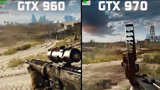 GTX 960 VS GTX 970 BATTLEFIELD 4 GAMEPLAY FPS WAR!!