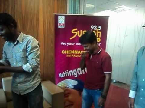 Audio Launch 'Vathikuchi' At Suryan FM With A.R Murugadoss, Music Director Gibran & Team