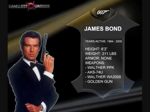 Deadliest Fictional Warrior Episode 21: Pierce Brosnan James Bond vs Joanna Dark Part 1
