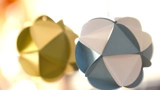 Paper Ornament Balls: How To Make || Kin Parents