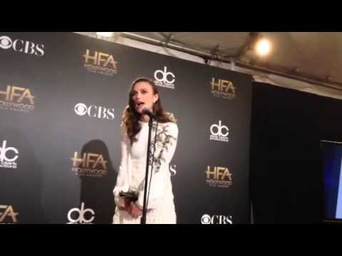 Keira Knightley Wins Hollywood Film Award For 'the Imitation Game' video