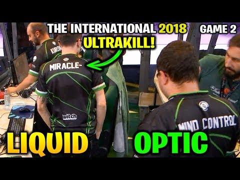 LIQUID vs OPTIC TI8 - MIRACLE ULTRAKILL!! - THE INTERNATIONAL 2018 -Game 2