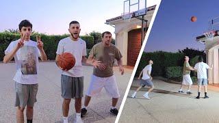 CRAZY BASKETBALL CHALLENGE! Rug vs Papa Rug vs Brawadis!