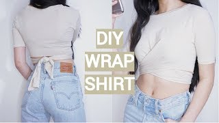 DIY WRAP T SHIRT FROM MEN'S TOP | THATTOMMYGIRL
