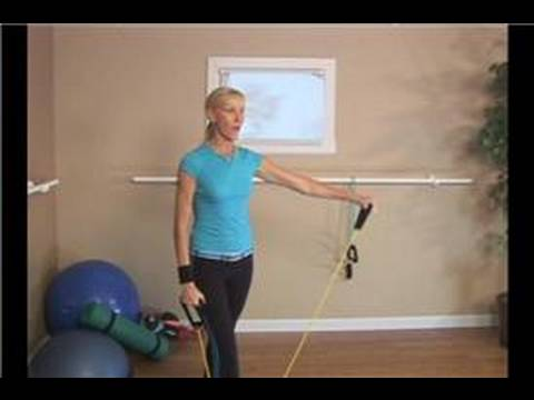 Upper Body Tubing Exercises : Tubing Exercises: Shoulder Lateral Raises Image 1