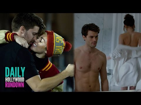 "Miley Cyrus KISSING Patrick Schwarzenegger & SEXY ""Fifty Shades of Grey"" Trailer (DHR)"