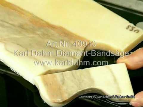 schneiden von naturstein mit der karl dahm diamant bands ge youtube. Black Bedroom Furniture Sets. Home Design Ideas