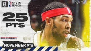 Brandon Ingram Full Highlights vs Hornets (2019.11.09) - 25 Pts, 4 Ast, 9 Reb!