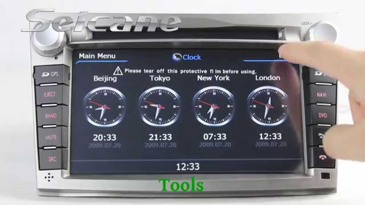 Multifunction 2010 2013 subaru legacy in dash radio dvd gps navigation stereo support voice cue