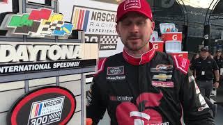 NASCAR Racing Experience 300 Champion Michael Annett has a messag...