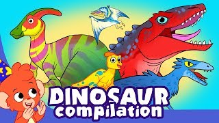 Learn Dinosaurs for Kids | Cute and Scary Dinosaur Cartoon videos | Club Baboo