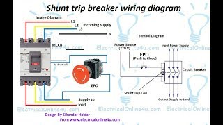Electrical urdu tutorials viyoutube shunt trip breaker wiring diagram in urdu hindi how to install a shunt sciox Images