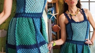 #6 Granny Block Dress, Vogue Knitting Crochet 2013 Special Collector