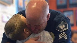 Dads Tear Up When Kids Surprise Them In School with Emotional Father