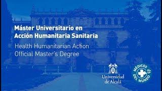 Máster Universitario en Acción Humanitaria Sanitaria