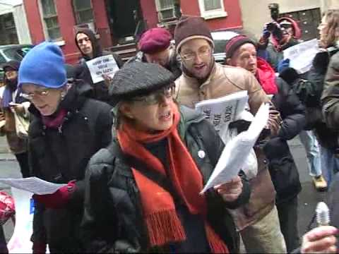 Demonstration at Egypt UN Mission for Gaza  Marchers
