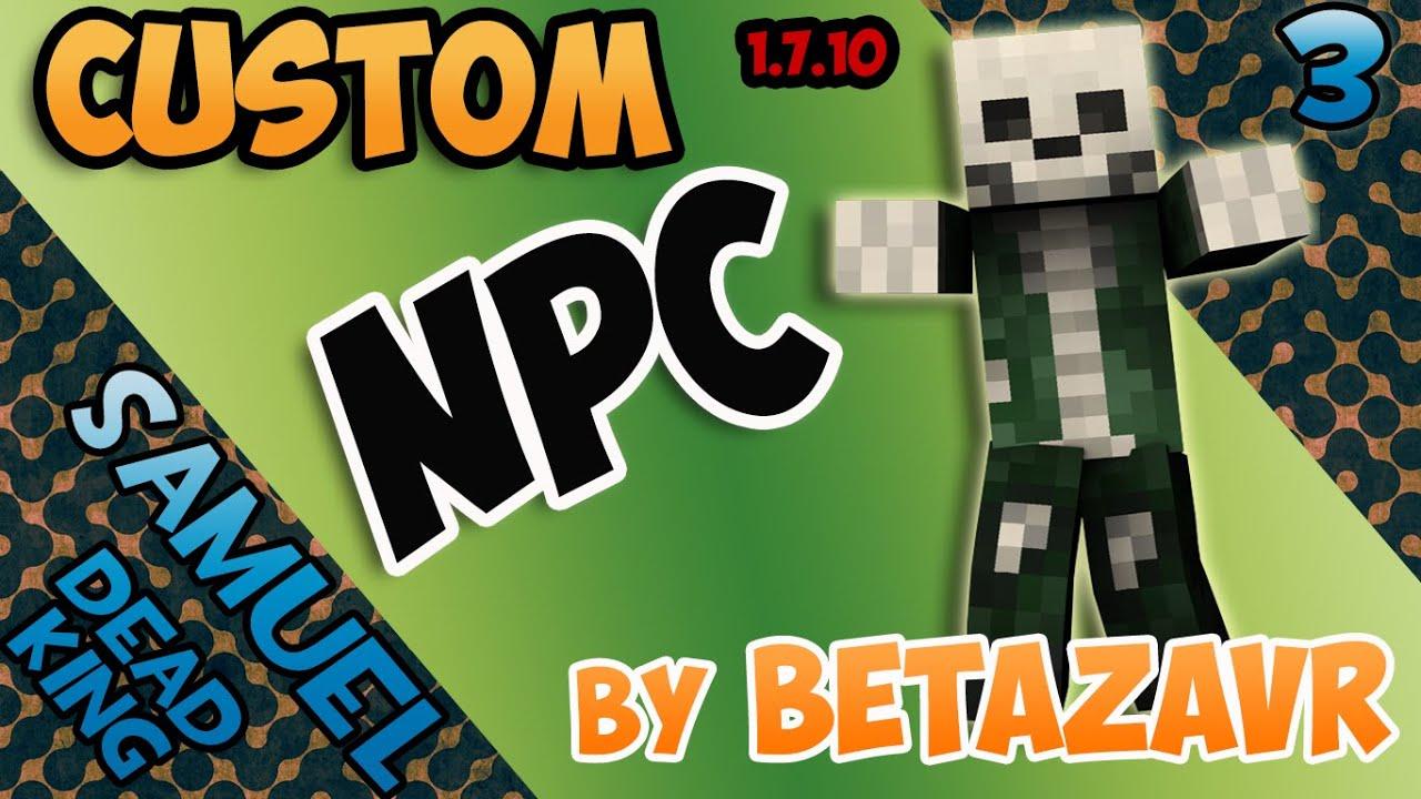 Как в моде custom npc сделать квест