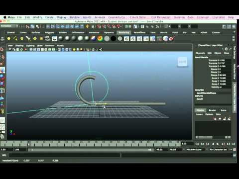 Non Linear Bend Deformer Maya tutorial.