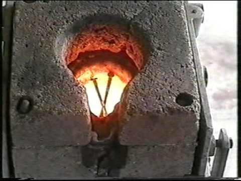 Homemade induction furnace melting steel