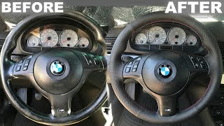 REWRAP BMW STEERING WHEEL UNDER $50