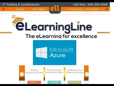 Azure tutorial for beginners Part 1 by ELearningLine @ 848-200-0448