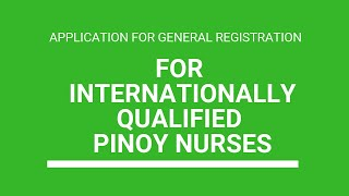 (AGOS-40 FORM) Application for eligibility to register as a nurse in Australia (Filipino Nurses)