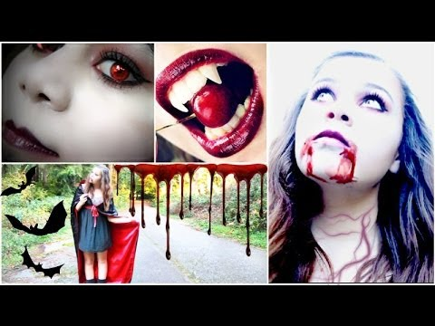 DIY Vampire Halloween Costume+Makeup!