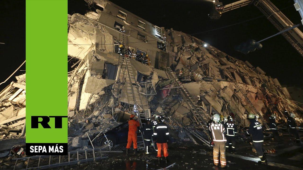 Centenares bajo escombros tras un sismo de magnitud 6,4 en Taiwán