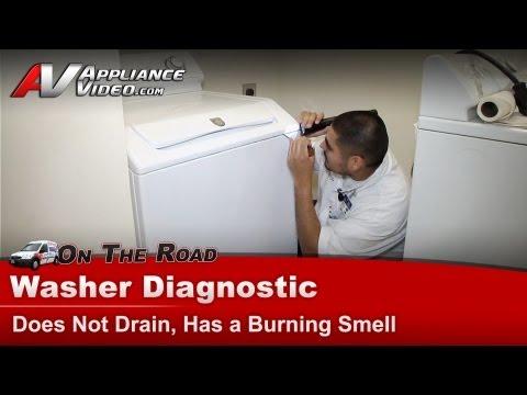 Washer Repair - Not Draining & Burning Smell -Maytag,Whirlpool,Roper,Kenmore,Sears MAV7600AWW