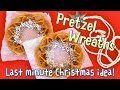 Christmas Pretzel Wreaths (Last Minute EASY Edible DIY Christmas Decoration Idea) - OCHIKERON