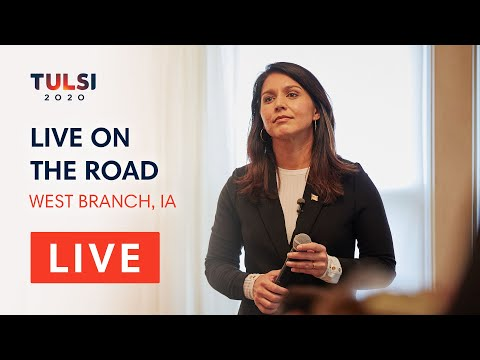 Tulsi Gabbard LIVE on the road - Coffee & Toffee with Tulsi - West Branch, IA