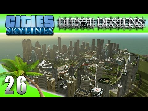 Cities: Skylines: EP26: Art District Island w/ Time Lapse! (City Building Series 60FPS)