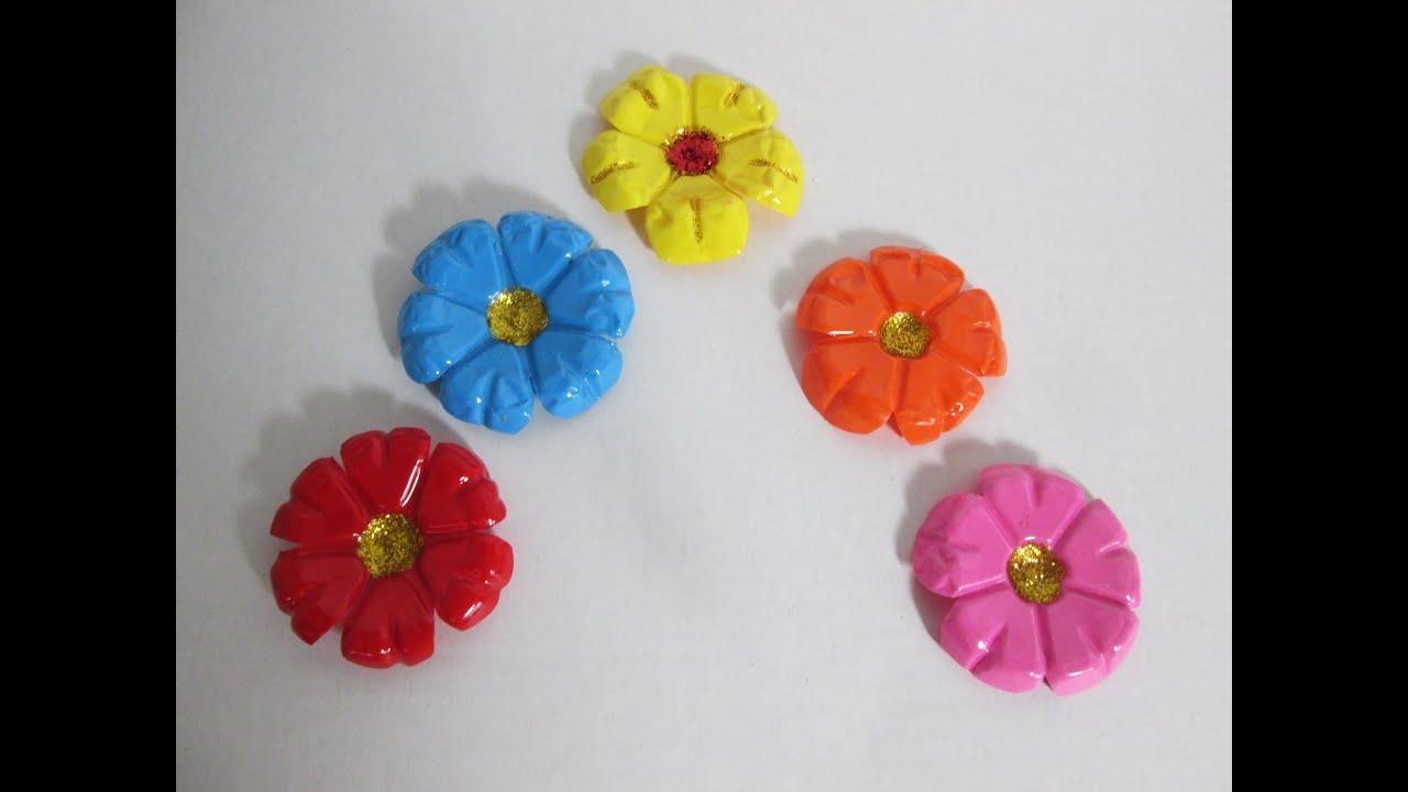 Como hacer flores con botellas de plastico recicladas - Como hacer flores ...