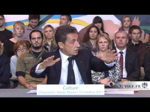 Table ronde de N.Sarkozy sur le thème de la culture