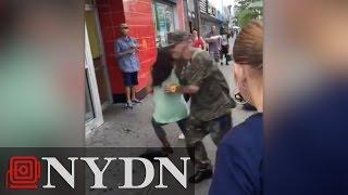 Jesus Santiago NYC Goes A-Stabbing Over Dollar Store Umbrella-1 Beasty Thankfully Daid/1 Beasty C
