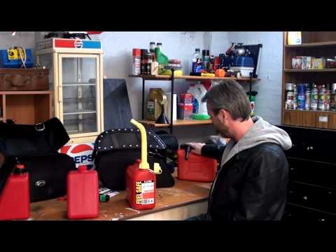 Reda Gas Can for Motorcycle Saddlebags