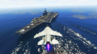 EPIC AIRCRAFT CARRIER HOUSE TOUR! (GTA 5 Online)